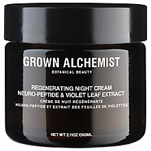 Buy Grown Alchemist Neuro-Peptide & Violet Leaf Extract Regenerating Night Cream, 60ml Online at johnlewis.com
