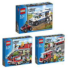 Buy LEGO City Emergency Services Trio Online at johnlewis.com