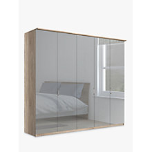 Buy John Lewis Elstra 250cm Wardrobe with Mirrored Hinged Doors Online at johnlewis.com