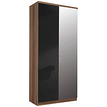 Buy John Lewis Elstra 100cm Wardrobe with Glass and Mirrored Hinged Doors Online at johnlewis.com