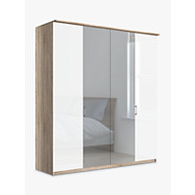 Buy John Lewis Elstra 200cm Wardrobe with Glass and Mirrored Hinged Doors Online at johnlewis.com