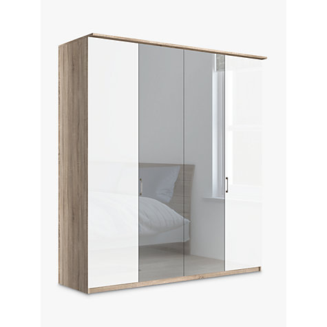 buy john lewis elstra 200cm wardrobe with glass and. Black Bedroom Furniture Sets. Home Design Ideas