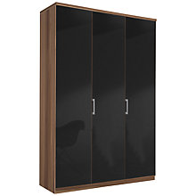 Buy John Lewis Elstra 150cm Wardrobe with Glass Hinged Doors Online at johnlewis.com