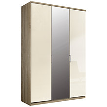 Buy John Lewis Elstra 150cm Wardrobe with Glass and Mirrored Hinged Doors Online at johnlewis.com