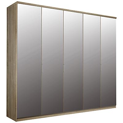 John Lewis Elstra 250cm Wardrobe with Mirrored Hinged Doors