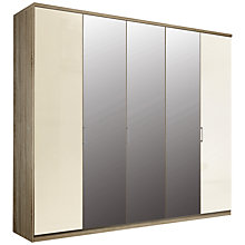 Buy John Lewis Elstra 250cm Wardrobe with Glass and Mirrored Hinged Doors Online at johnlewis.com