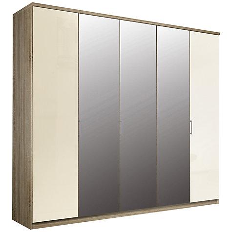 buy john lewis elstra 250cm wardrobe with glass and. Black Bedroom Furniture Sets. Home Design Ideas