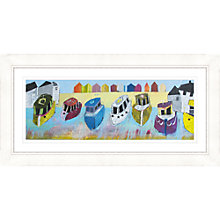 Buy Kathryn Matthews - Boats 2 Framed Print, 112 x 57cm Online at johnlewis.com