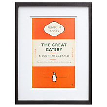 Buy Penguin Books - The Great Gatsby Cover Framed Print, 42 x 32cm Online at johnlewis.com