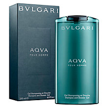 Buy Bvlgari Aqua Pour Homme Shampoo and Shower Gel, 200ml Online at johnlewis.com