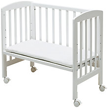 Buy BabyDan 3-in-1 Side-by-Side Crib, White Online at johnlewis.com