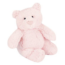 Buy Jellycat Squidgy Bear Plush, Pink Online at johnlewis.com