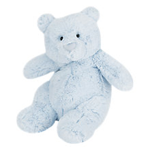 Buy Jellycat Squidgy Bear, Medium, Blue Online at johnlewis.com