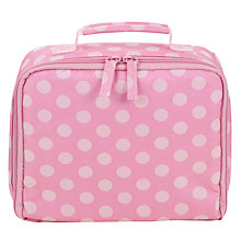Buy John Lewis Children's Polka Dot Lunch Box, Pink/Cream Online at johnlewis.com