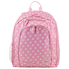 Buy John Lewis Children's Polka Dot Print Back Pack, Pink/Cream Online at johnlewis.com