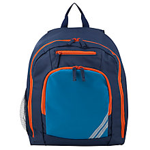 Buy John Lewis Children's Plain School Backpack, Blue Online at johnlewis.com