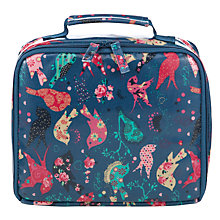 Buy John Lewis Children's Bird Print Lunch Box, Navy Multi Online at johnlewis.com