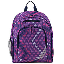 Buy John Lewis Children's Star Print Back Pack, Purple Online at johnlewis.com
