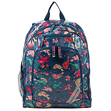 Buy John Lewis Children's Bird Print Back Pack, Navy Multi Online at johnlewis.com