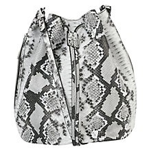 Buy Whistles Onslow Snake Bucket Bag, Black / White Online at johnlewis.com
