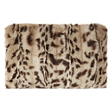 Buy Whistles Leopard Print Faux Fur Clutch Bag, Multi Online at johnlewis.com