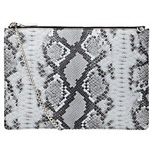 Buy Whistles Rivington Snake Pouch Bag, Black/White Online at johnlewis.com