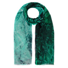 Buy Whistles Insmoke Silk Mix Scarf, Green Online at johnlewis.com