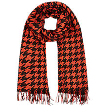Buy Hobbs Dogtooth Scarf, Chocolate Multi Online at johnlewis.com
