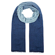 Buy Hobbs Ombre Spot Scarf, Blue Online at johnlewis.com