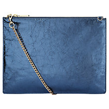 Buy Whistles Rivington Cracked Leather Chain Clutch Bag Online at johnlewis.com