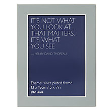 "Buy John Lewis Enamel Photo Frame, Stone, 5 x 7"" (13 x 18cm) Online at johnlewis.com"