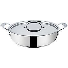 Buy Jamie Oliver by Tefal Stainless Steel Shallow Casserole, Dia.30cm Online at johnlewis.com