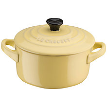 Buy Le Creuset Petite Round Casserole, Elysees Yellow Online at johnlewis.com