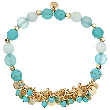 Buy Lola Rose Bali Disc Cluster Bracelet, Turquoise/Gold Online at johnlewis.com