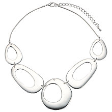 Buy John Lewis Cutout Circles Necklace, Silver Online at johnlewis.com