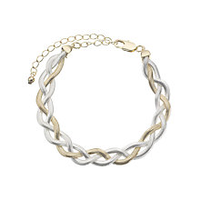 Buy John Lewis Two Tone Snake Bracelet, Gold/Silver Online at johnlewis.com
