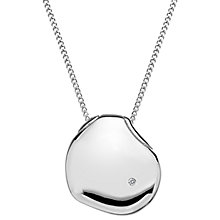 Buy Hot Diamonds Sterling Silver Lunar Pebble Pendant, Silver Online at johnlewis.com