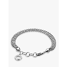 Buy Hot Diamonds Sterling Silver Bead Bracelet, Silver Online at johnlewis.com
