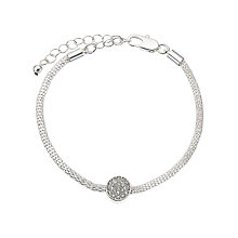 Buy John Lewis Circle Paved Mesh Bracelet Online at johnlewis.com
