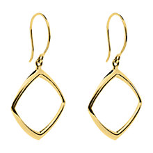 Buy Dinny Hall 22ct Gold Plated Sterling Silver Cushion Drop Earrings, Gold Online at johnlewis.com