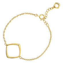 Buy Dinny Hall 22ct Gold Plated Sterling Silver Cushion Wristlet, Gold Online at johnlewis.com