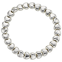 Buy John Lewis Mini Heart Stretch Bracelet, Silver Online at johnlewis.com