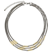 Buy John Lewis Layered Tube Necklace, Silver/Gold Online at johnlewis.com