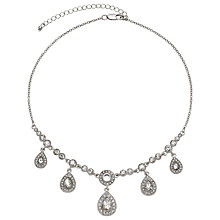 Buy John Lewis Pear Drops Sparkle Necklace, Silver Online at johnlewis.com