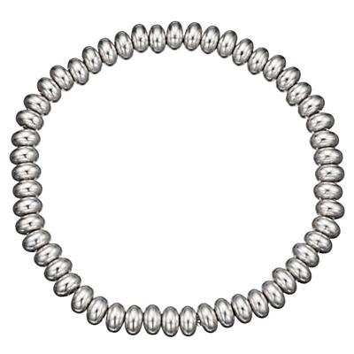 John Lewis Plain Bead Bracelet, Silver