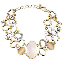 Buy John Lewis Mother Of Pearl Bangle, Rose Gold Online at johnlewis.com