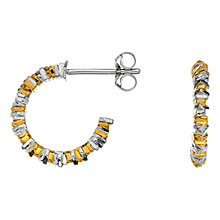 Buy Hot Diamonds Sterling Silver By The Shore Hoop Earrings, Gold/Silver Online at johnlewis.com