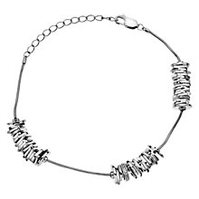 Buy Hot Diamonds By The Shore Beach Bracelet, Silver Online at johnlewis.com