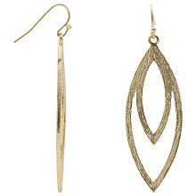 Buy John Lewis Leaf Shape Drop Earrings Online at johnlewis.com