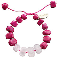 Buy Lola Rose Fern Beryl Stone Bangle, Pink/Turquoise Online at johnlewis.com